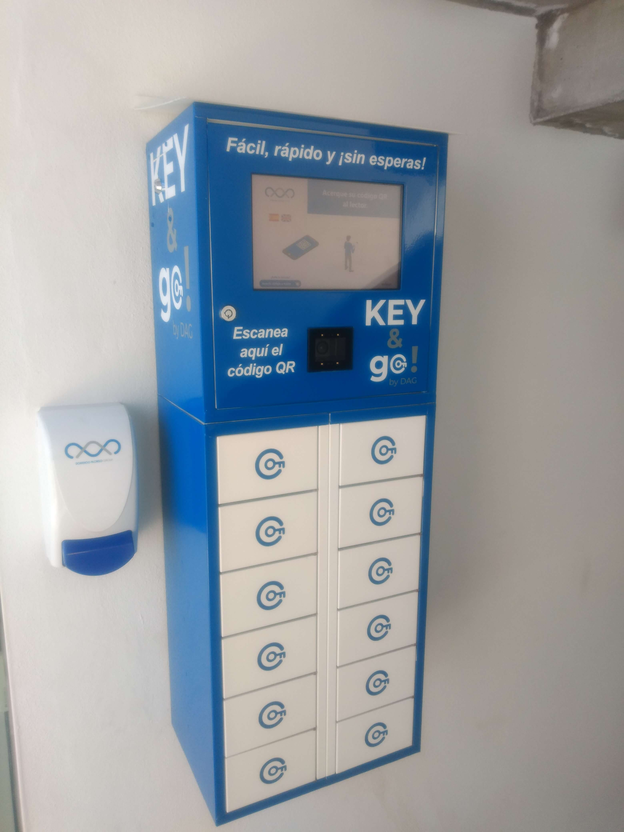 Imagen de una máquina de llaves isykeys
