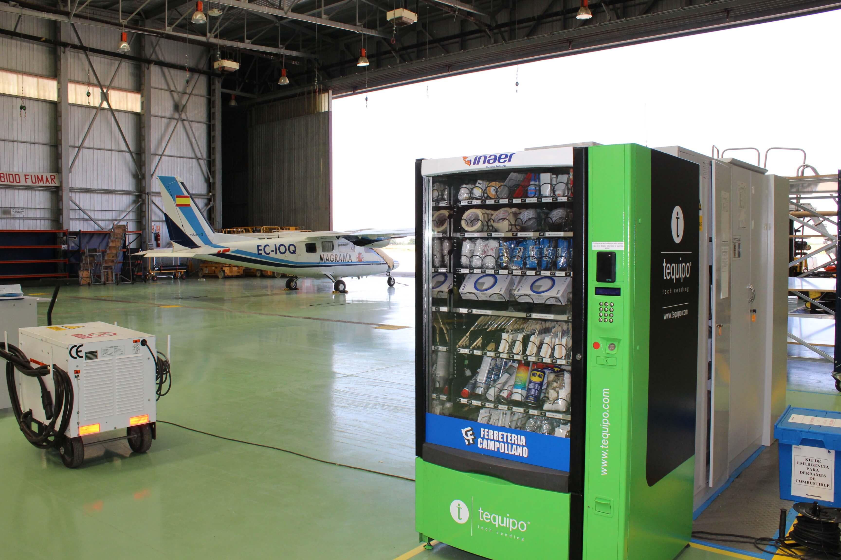 Máquina expendedora aeropuerto