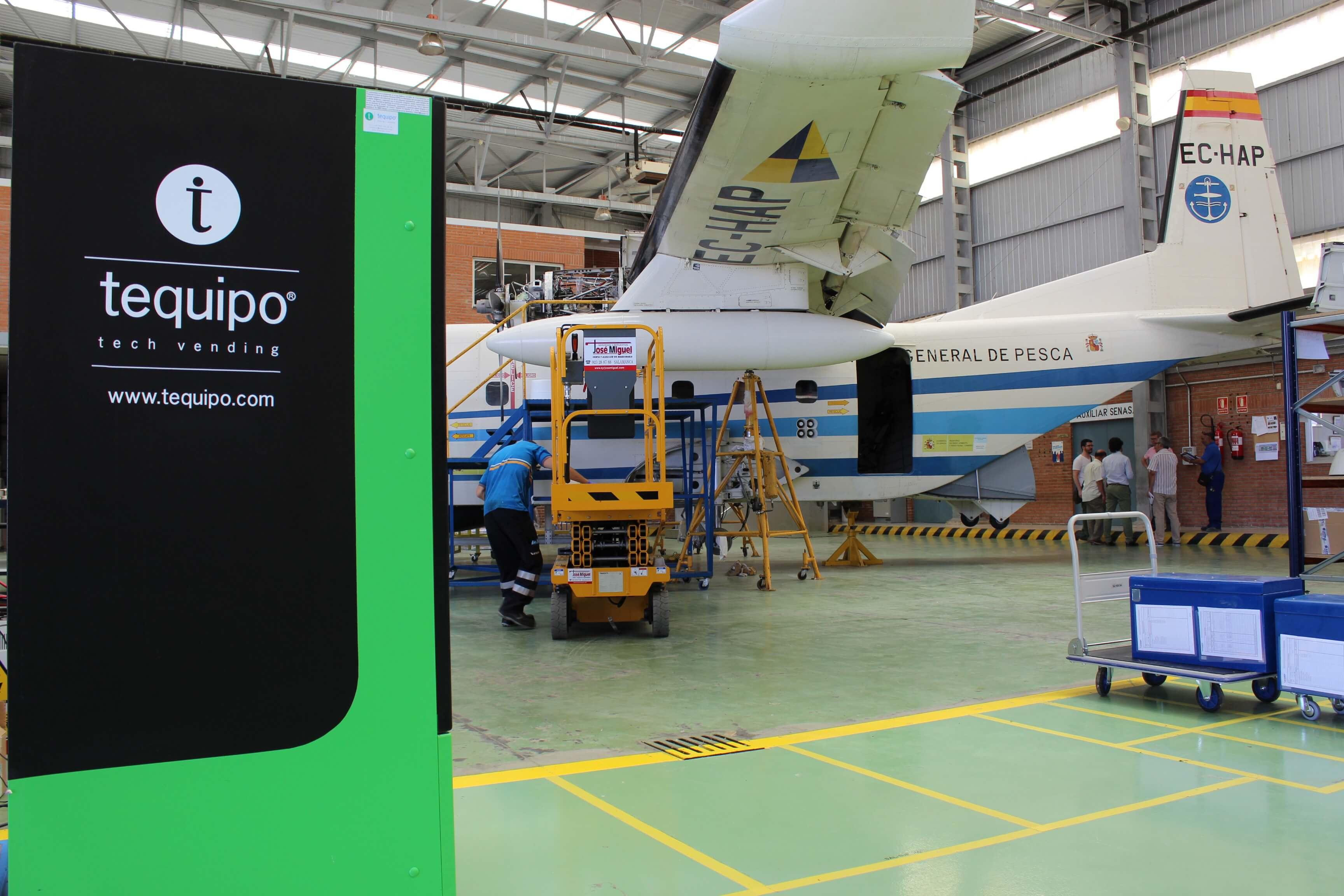 Máquina expendedora avión