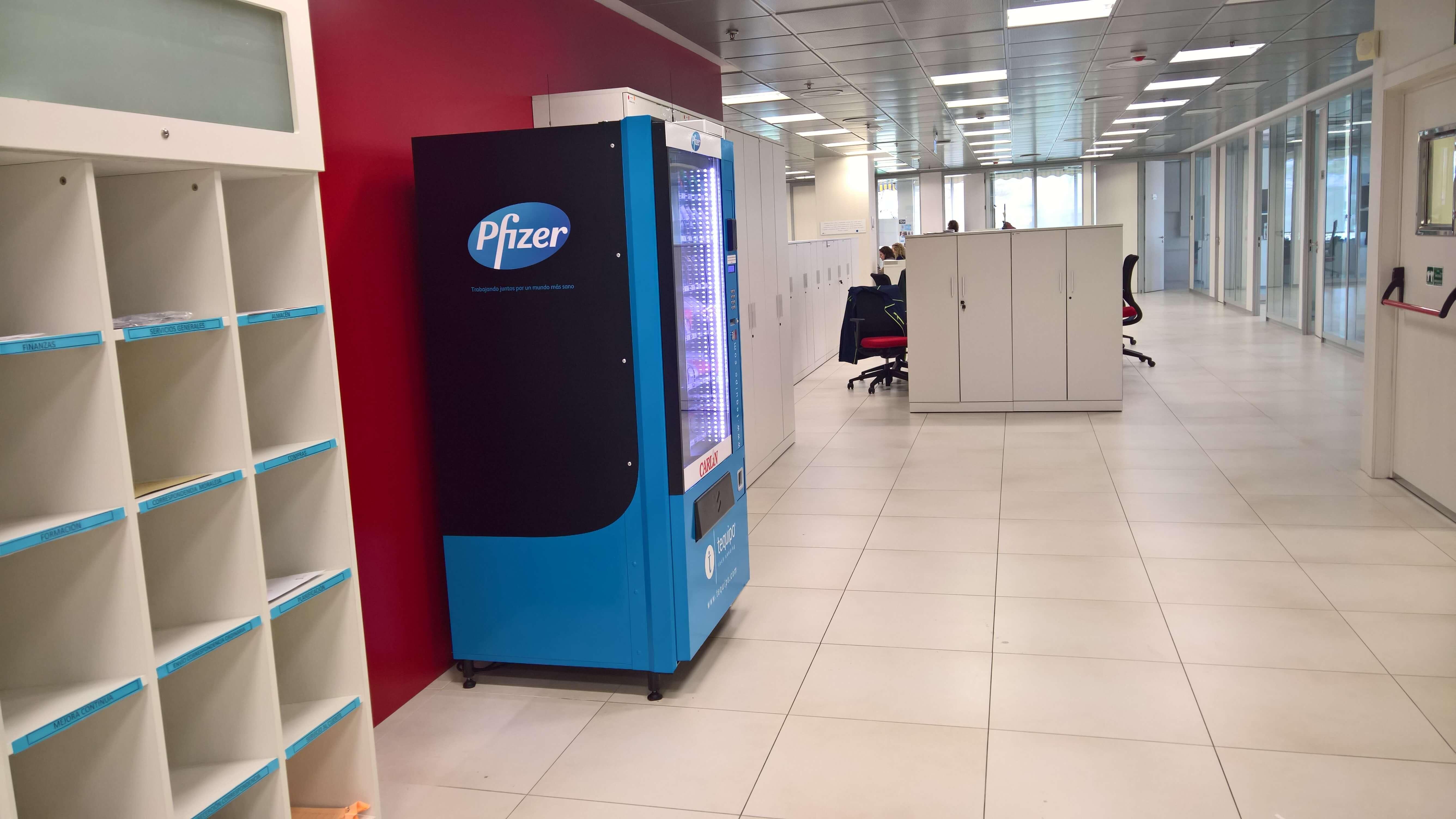 Máquina expendedora Pfizer